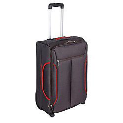 Tesco Lightweight 2-Wheel Suitcase, Grey Large
