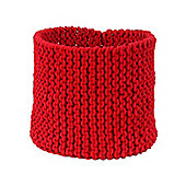 Homescapes Basket - Knitted - Red - 42 x 37 cm