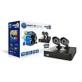 HomeGuard Smart HD 720p 4 Channel 2 Camera 1TB CCTV Kit