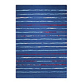 Esprit Joyful Stripes Blue Woven Rug - 160 cm x 225 cm (5 ft 3 in x 7 ft 5 in)