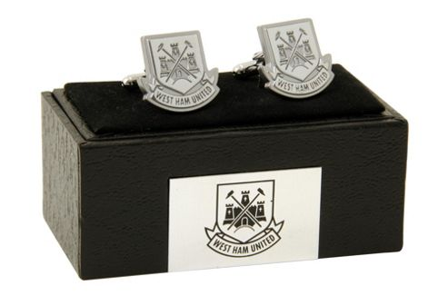 West Ham FC West Ham Chrome Cufflinks.