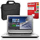 "Lenovo IdeaPad 500 80NT00E8UK 15.6"" Laptop With BullGuard Internet Security & Case"