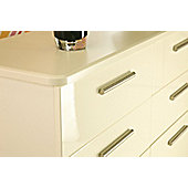 Welcome Furniture Knightsbridge 6 Drawer Midi Chest - Cream - Cream