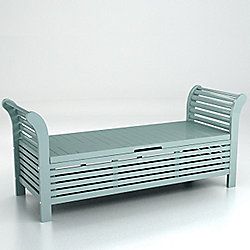 Buy Lutyens Storage Bench Eau De Nil From Our Garden