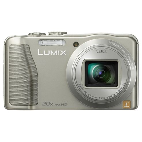 Panasonic Lumix TZ35 Digital Camera Silver 20X Optical Zoom 16MP 3