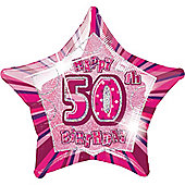 50th 20' Star Foil Balloon (each)
