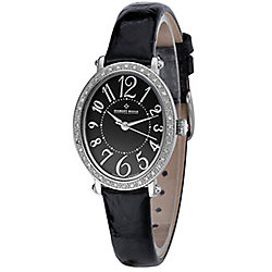 Diamant Rouge Champ de Mars Ladies Black Leather Diamond Set Watch WA000090