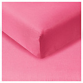 Tesco Fitted Sheet Fuchsia Pink, Kingsize