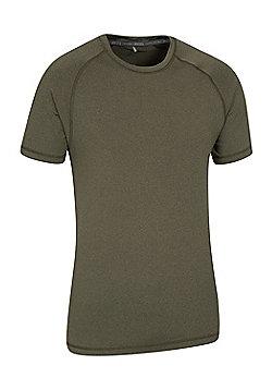 Agra Mens Melange T-Shirt - Khaki