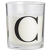 Sweet Vanilla Alphabet Candle Letter C