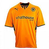 2013-14 Wolves Home Football Shirt - Orange
