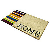 Home Stripe Half Plain PVC Coir Mat