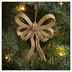 Gold Bow Christmas Tree Decoration