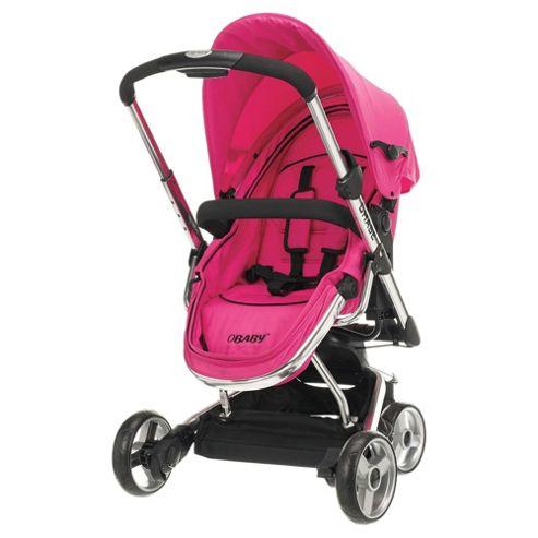 Obaby Chase 3 Wheel Pramette, Pink