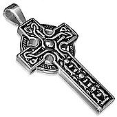 Two Colour Celtic Clonmacnoise Cross Pendant