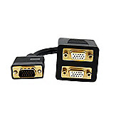 StarTech VGA to 2x VGA Video Splitter Cable – M/F (0.3m)