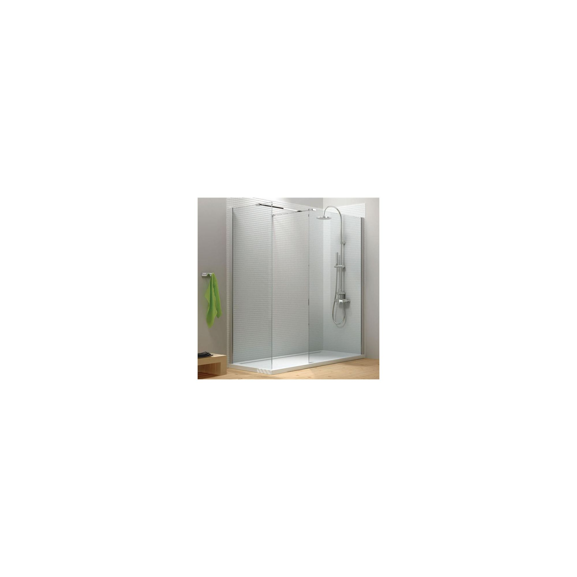 Merlyn Vivid Eight Walk-In Shower Enclosure, 1400mm x 900mm, Low Profile Tray, 8mm Glass at Tesco Direct