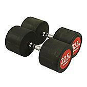 Bodymax Pro V3 Rubber Dumbbells - 32.5kg