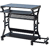 Home Essence Sheridan Computer Desk in Black Glass - Black Glass