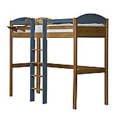 Maximus High Sleeper Central Ladder Antique With Blue Details