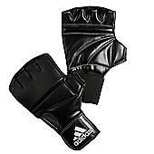 Adidas Leather Gel Boxing Bag Gloves - Black