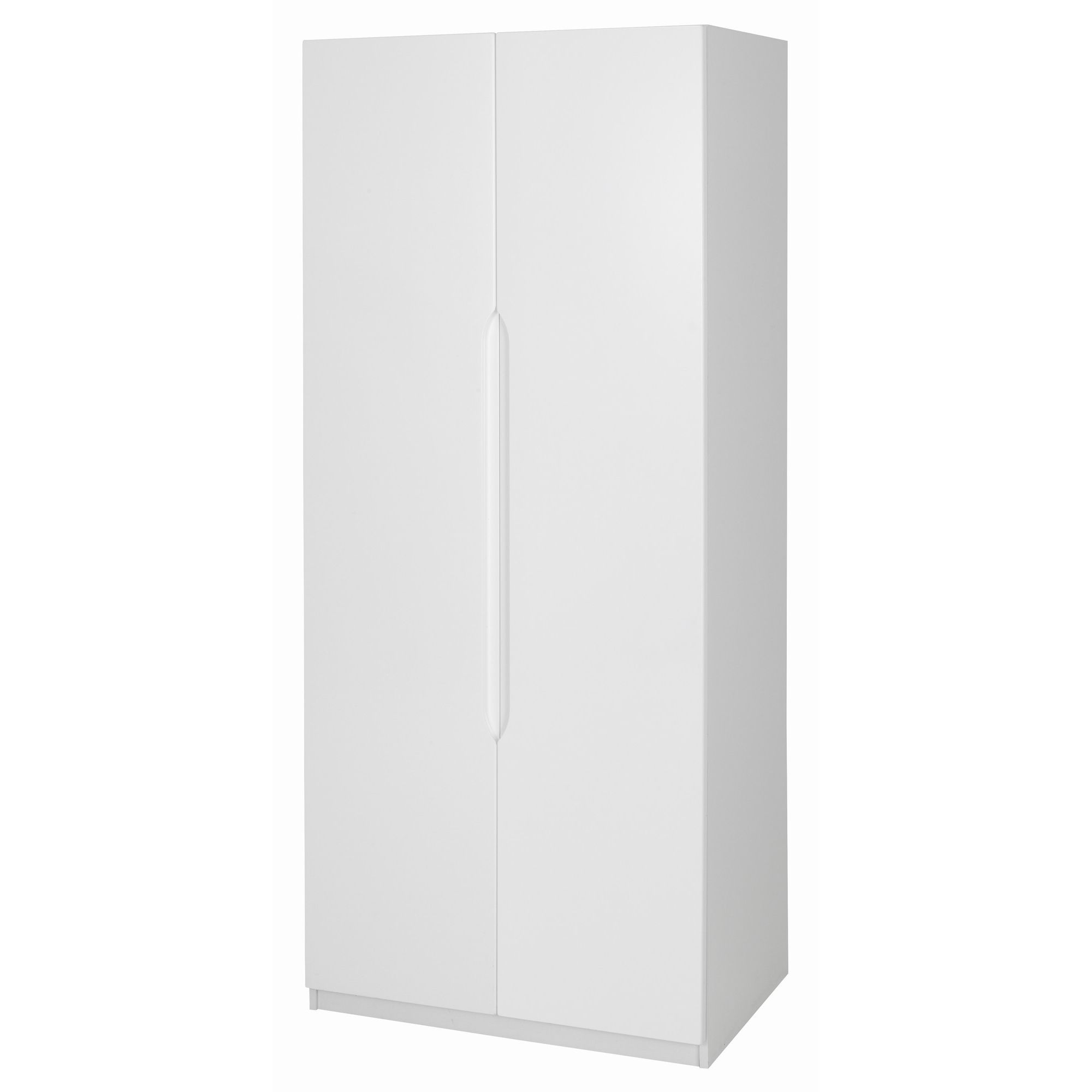 Alto Furniture Visualise Alpine 2 Door Wardrobe - High Gloss White at Tesco Direct