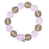 Pink and Brown Bead Charm Carrier Bracelet