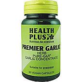 Health Plus Premier Garlic 500mg- Vegan 60 Veg Capsules