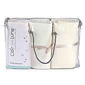 Clair de Lune 3pc Essentials Cot Bed Bedding Set (Cream)