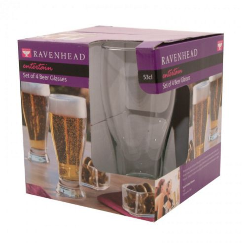 ZRW - Glass - Entertain - Set 4 Beer Glasses