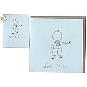 Best Man Wedding Card and Gift Tag