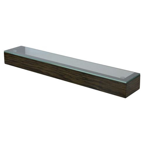 Wireworks Simline Glass Shelf - Dark Oak