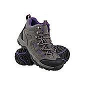 Adventurer Womens Camping Travelling Hiking Outdoors Trekking Waterproof Boots - Grey