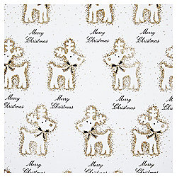 Luxury Gold Glitter Reindeer Christmas Wrapping Paper, 3m