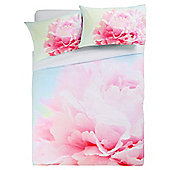 Tesco peony digital print duvet set DB pink