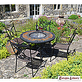 Europa Leisure Durango Round 4 Seater Dining Set