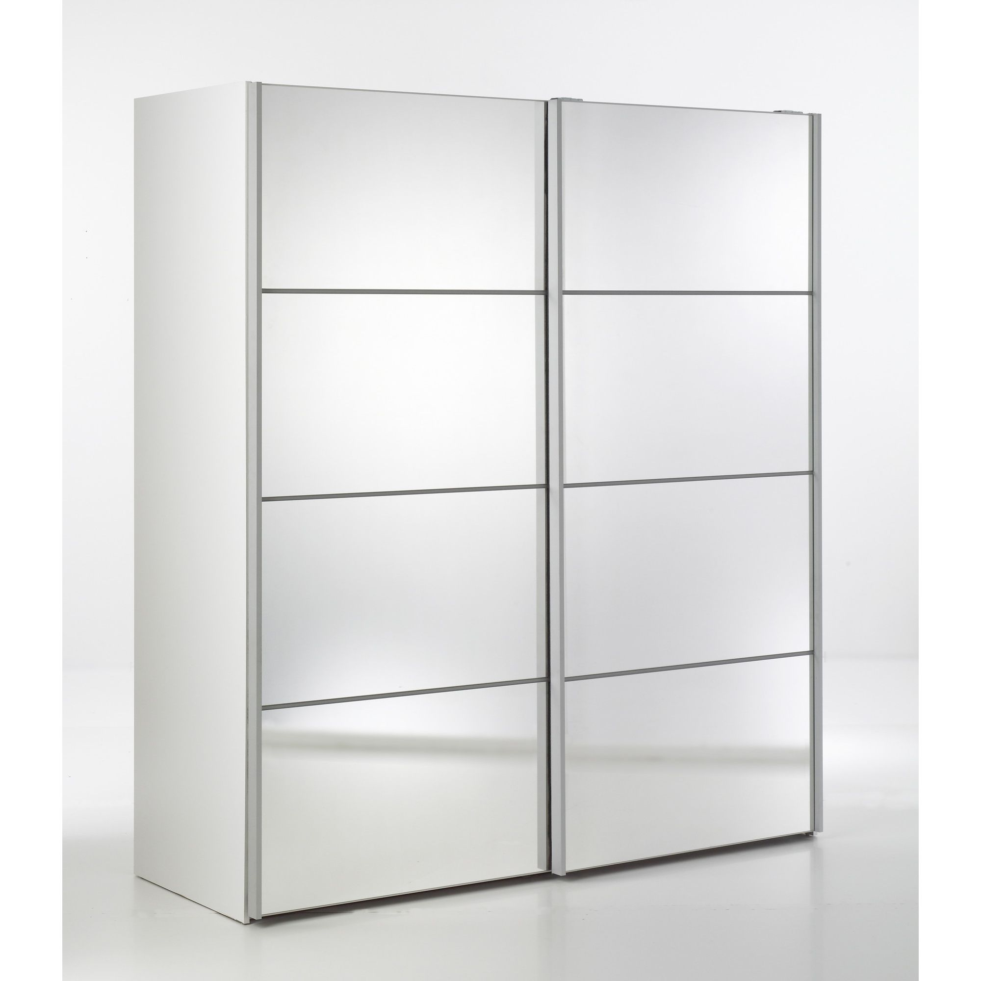 Tvilum Verona Sliding Mirrored Wardrobe - White at Tesco Direct