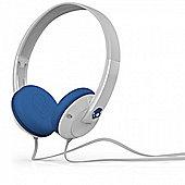 Uprock 2.0 White/Blue On Ear Headphones w/Mic