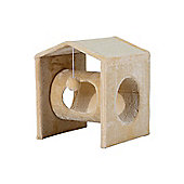PawHut Cat Tree Pet House Activity Center Scratcher Post Kitty w/ Hanging Toy Cream