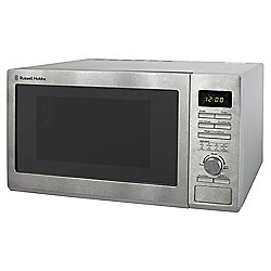 Russell Hobbs RHM2563 Solo Microwave, 25L - Stainless Steel
