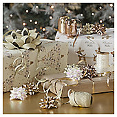 Christmas Ribbon and Bow Accessories Pack, Gold