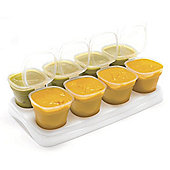 First Steps Baby Food Freezing Cubes Pots Storage Cups Pack of 8
