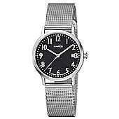 M-Watch Black & White Unisex Stainless Steel Date Watch A661.30545.04