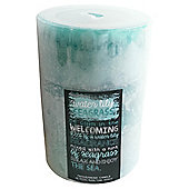 Water Lily & Seagrass Pillar Candle, Large