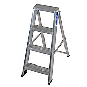 Industrial 4 Tread Swingback Step Ladder