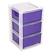 Wham 3 Drawer Tower Purple