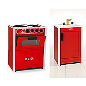 Brio Classic Bundle - Stove Red & Kitchen Sink 2 Items