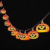 10 Grinning Halloween Pumpkin Battery LED Fairy Lights