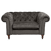 Chesterfield Loveseat Velvet Pewter