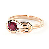 QP Jewellers 0.65ct Ruby San Francisco Ring in 14K Rose Gold